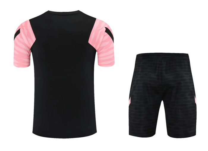 PSG 21/22 Black/Pink Training Kit Jerseys