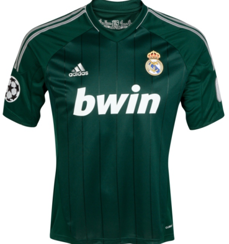 Real Madrid 12/13 Away Green Soccer Jersey