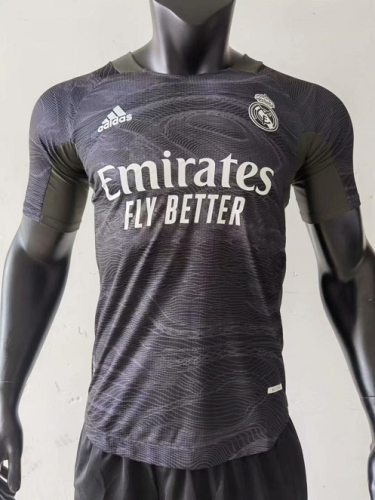 Real Madrid 21/22 GK Black Soccer Jersey(Player)