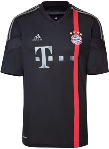 Bayern Munich 14/15 Away Black Soccer Jersey
