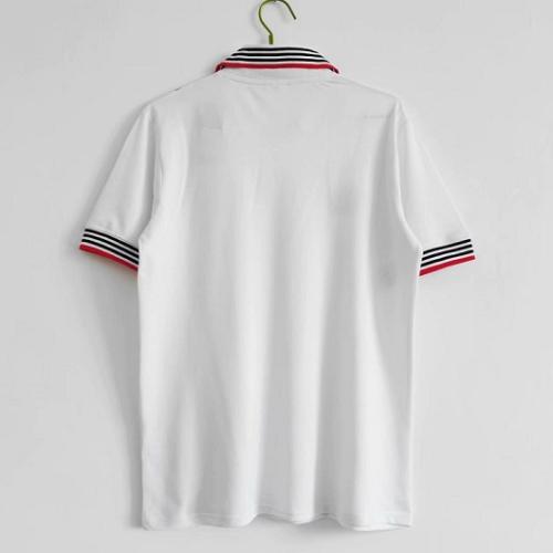 Manchester Utd 75-80 Away White Soccer Jersey