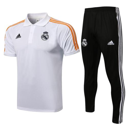 Real Madrid 21/22 White/Orange Training Kit Jerseys