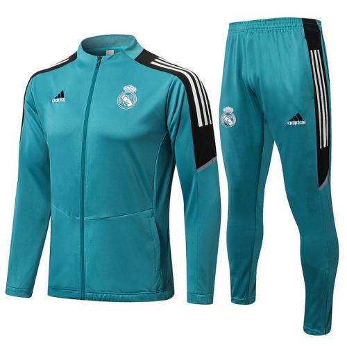 Real Madrid 21/22 Tracksuit - Lake Blue