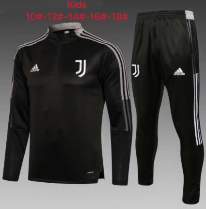 Kids Juventus 21/22 Trackusit - Black
