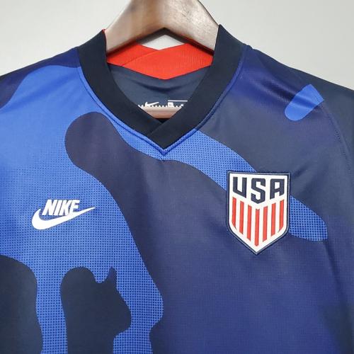 USA 20/21 Away Dark Blue Soccer Jersey