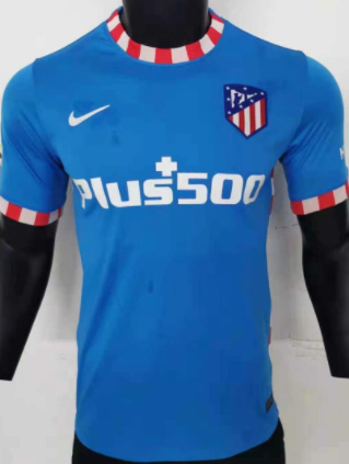 Atletico Madrid 21/22 Third Blue Jersey(Player)