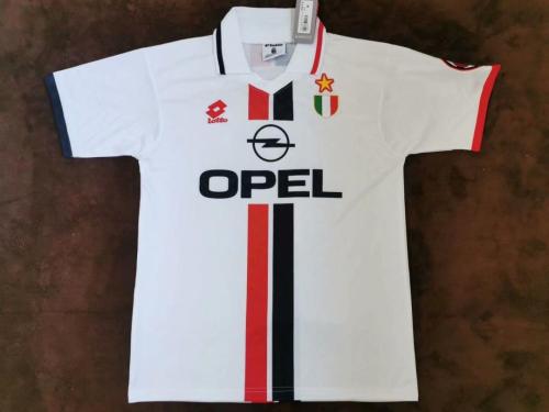 AC Milan 95/97 Away White Soccer Jersey