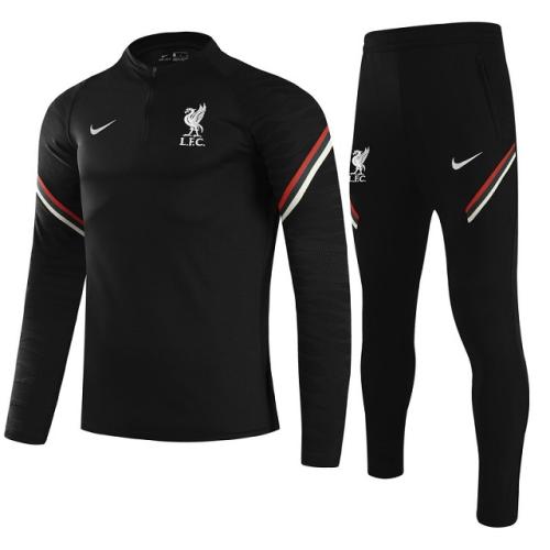 Liverpool 21/22 Tracksuit - Black 2
