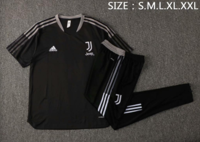 Juventus 21/22 Black Training Kit Jerseys