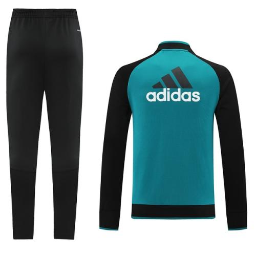 Real Madrid 21/22 Tracksuit - Black/Lake Blue