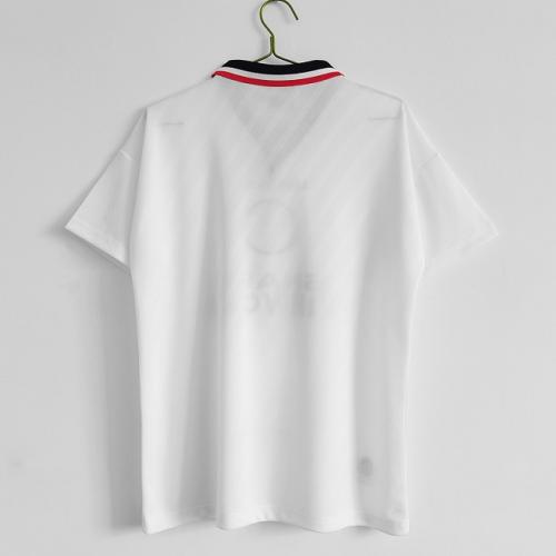 Manchester Utd 96/97 Away White Soccer Jersey