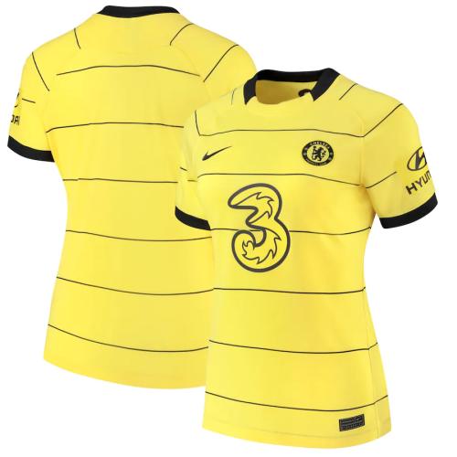Chelsea Woman 21/22 Away Yellow Soccer Jersey