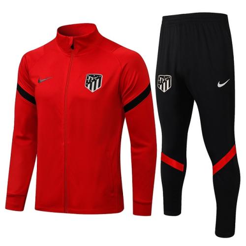 Atletico Madrid 21/22 Tracksuirt - Red/Black 2