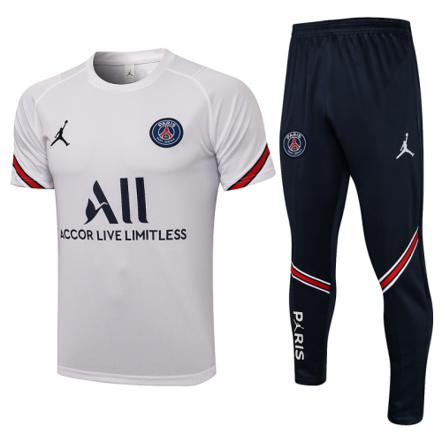 PSG 21/22 White Training Kit Jerseys 2