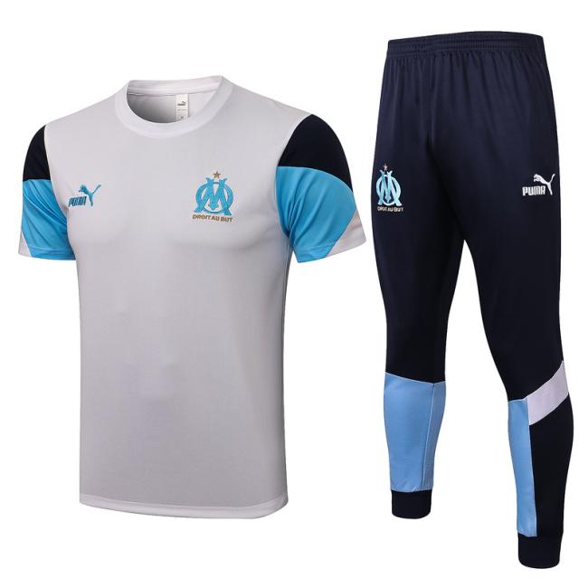 Marseilles 21/22 White Training Kit Jerseys 2