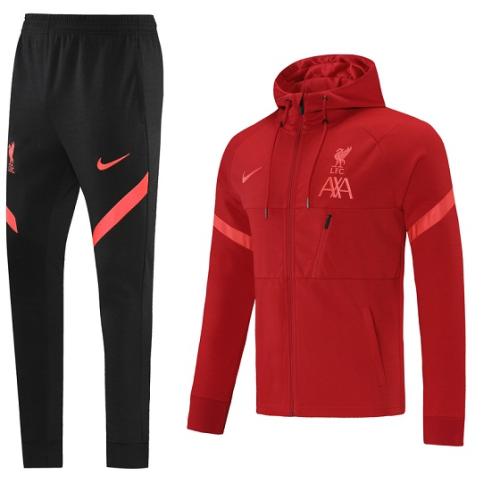 Liverpool 21/22 Hoodie Tracksuit - Dark Red