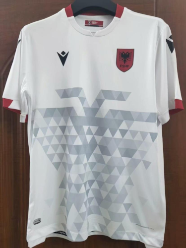 Albania 21/22 Away White Soccer Jersey