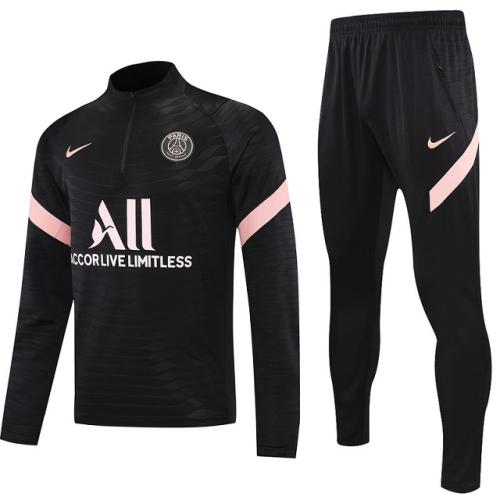 Paris St Germain 21/22 Tracksuit - Black/Light Pink