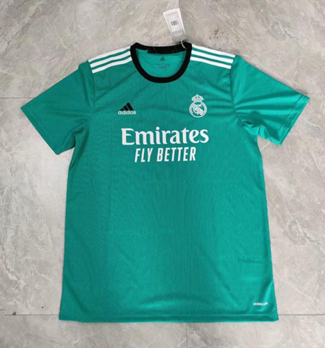 Real Madrid 21/22 Third Green Soccer Jersey