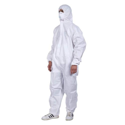 Cleaing Disposable Coveralls with Hood 2XL Protective coverall Elastic Wrist