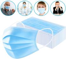 50 Disposable Face Mask Surgical Medical Dental Industrial Mouth Cover Ear Loop