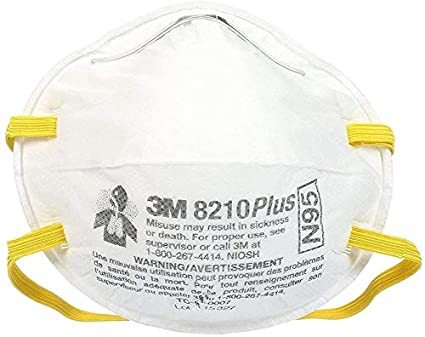 3M 8210 mask N95 dustproof with breathing valve (3pc)