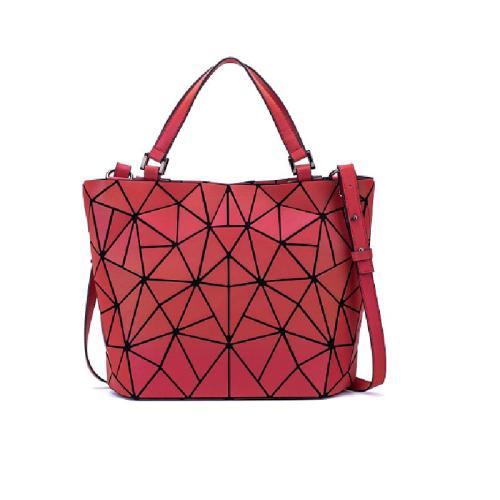 Geometric Fashion Women handbag Luminous Ladies Rucksack Shoulder Bag Purse Lingge Fashion School Casual Holo handbag