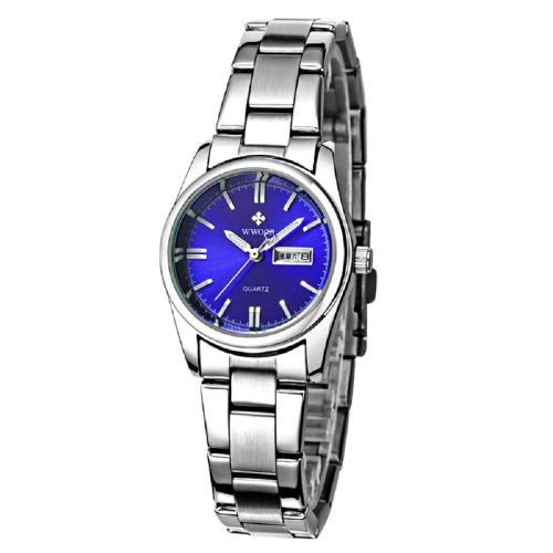 Women Fashion Stainless Steel Watch Date Day Clock Quartz Watch Luminous Watch Wrist Watch Ladies Watches