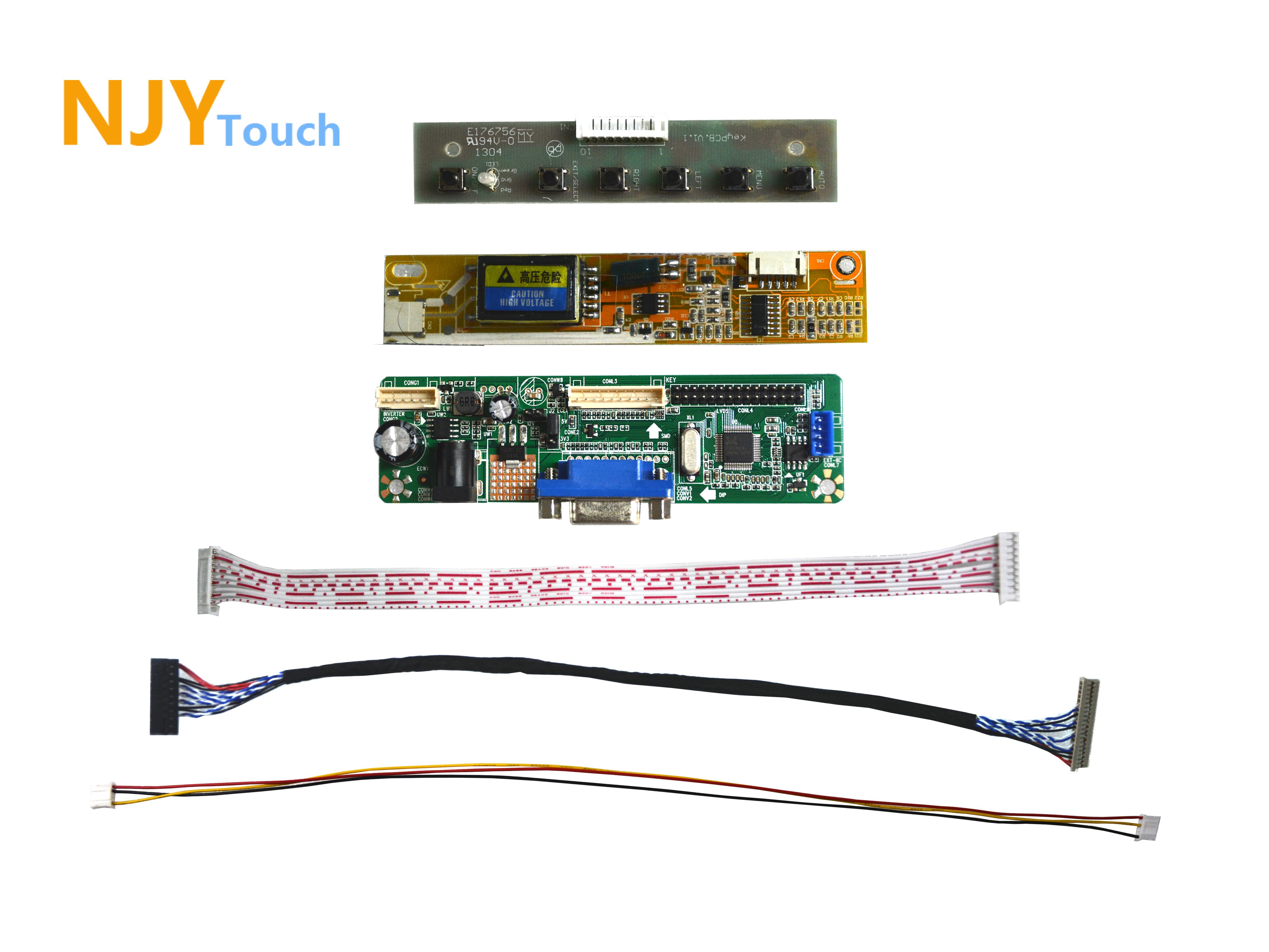 NJYTouch V.M70A VGA Controller Board For 14.1inch B141XN01 B141XN03 L141X1-1 1024x768 LCD Screen