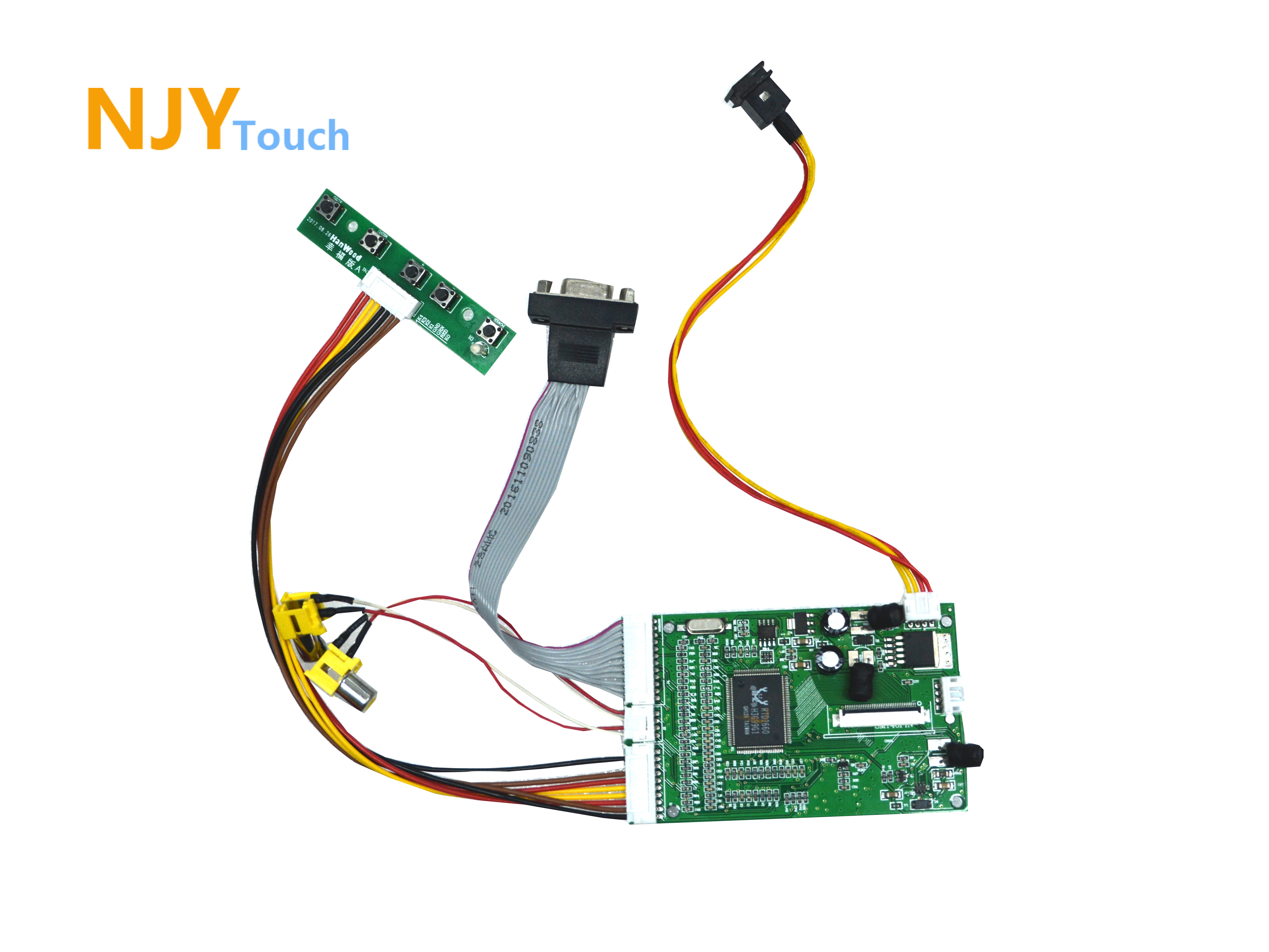 NJYTouch 2AV VGA LCD Controller Board Kit For 4.3inch HSD043I9W1-A00 480x272 LCD Screen