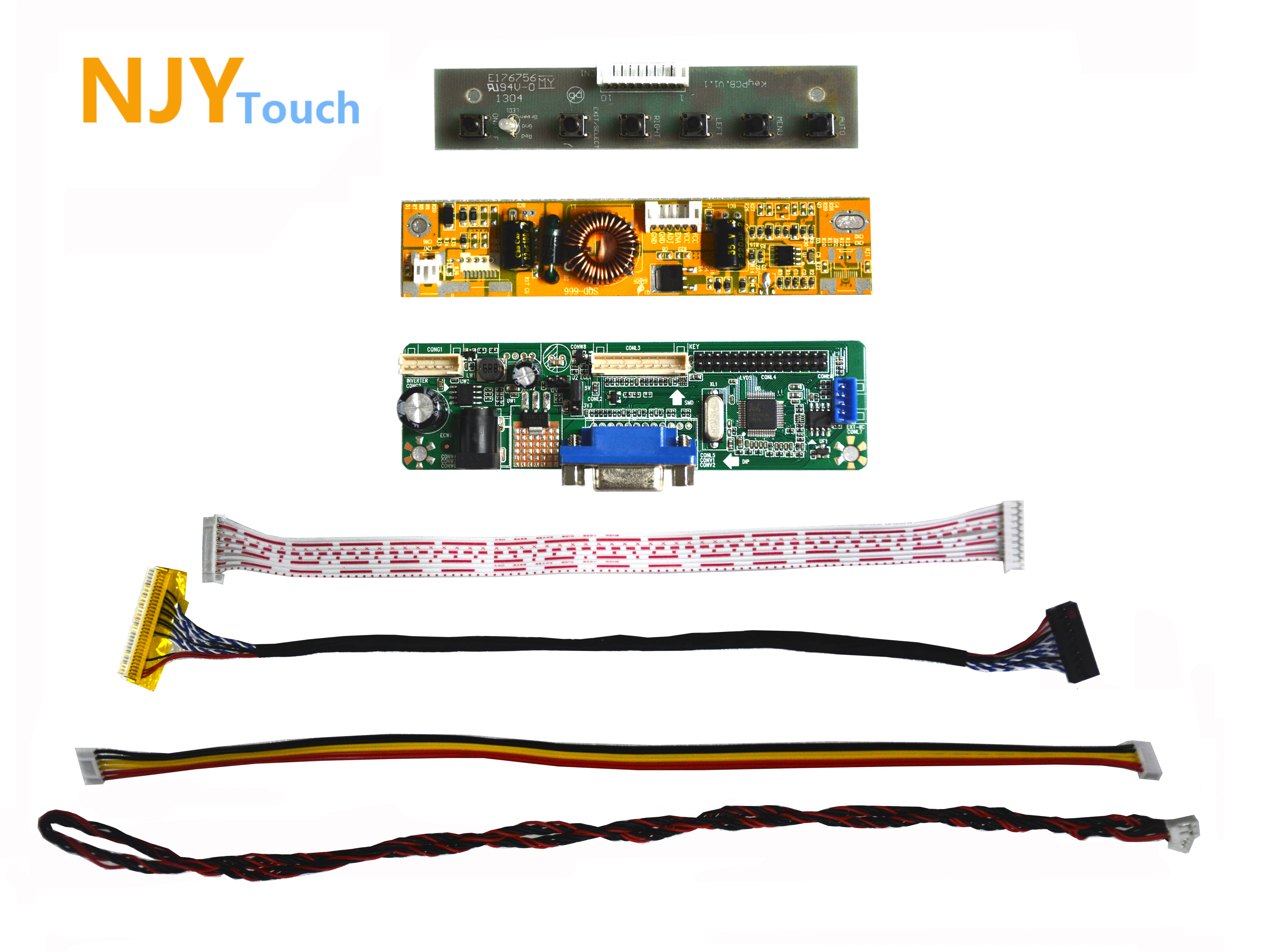 NJYTouch V.M70A VGA Controller Board For 21.5inch LM215WF8-TLA1 LC215EUE-SDA1 1920x1080 LED Screen