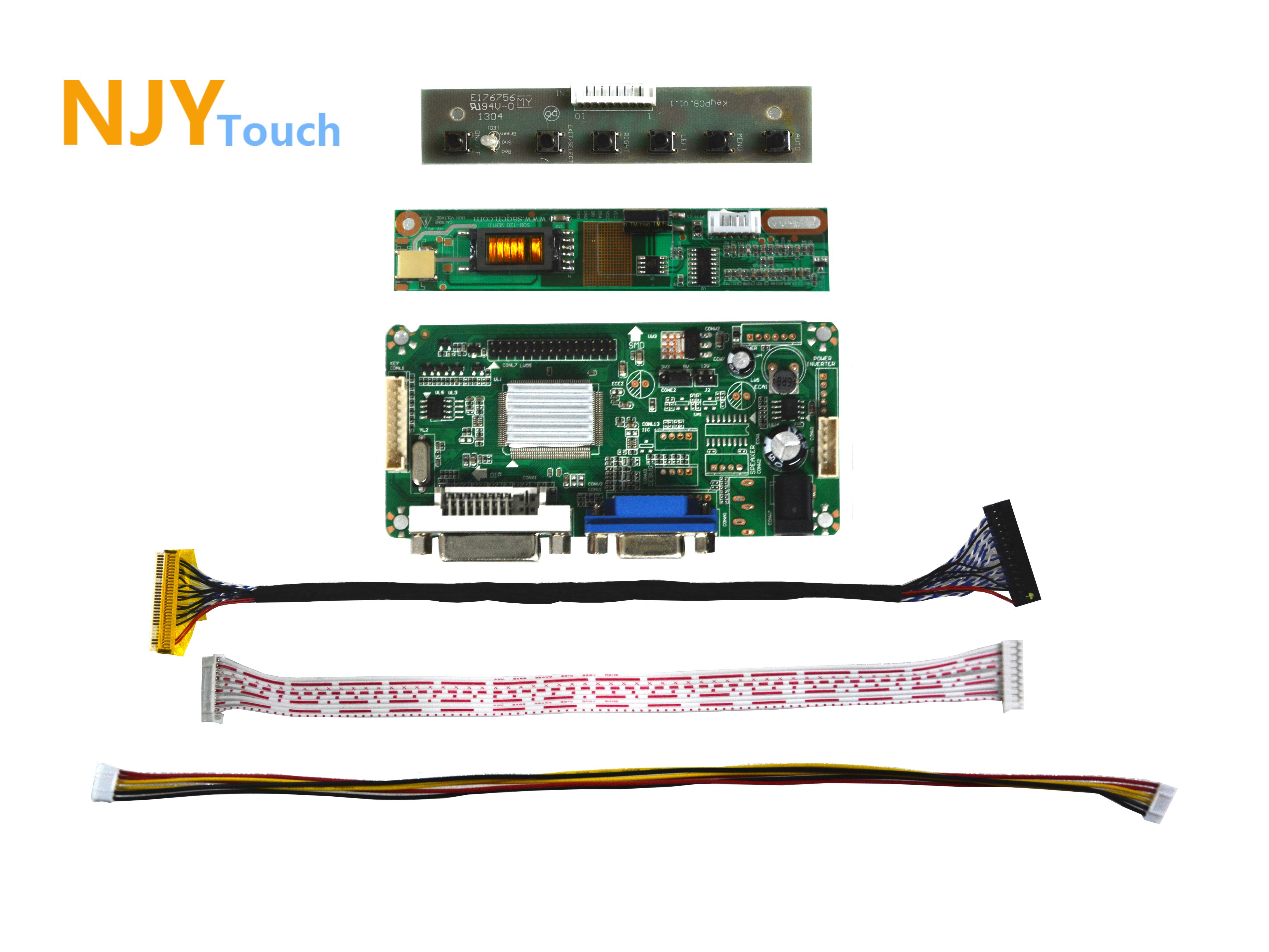 NJYTouch LM.R61 DVI VGA LCD Controller Driver Board For 17inch QD17TL02 LTN170WX-L05 1440x900 LCD Screen