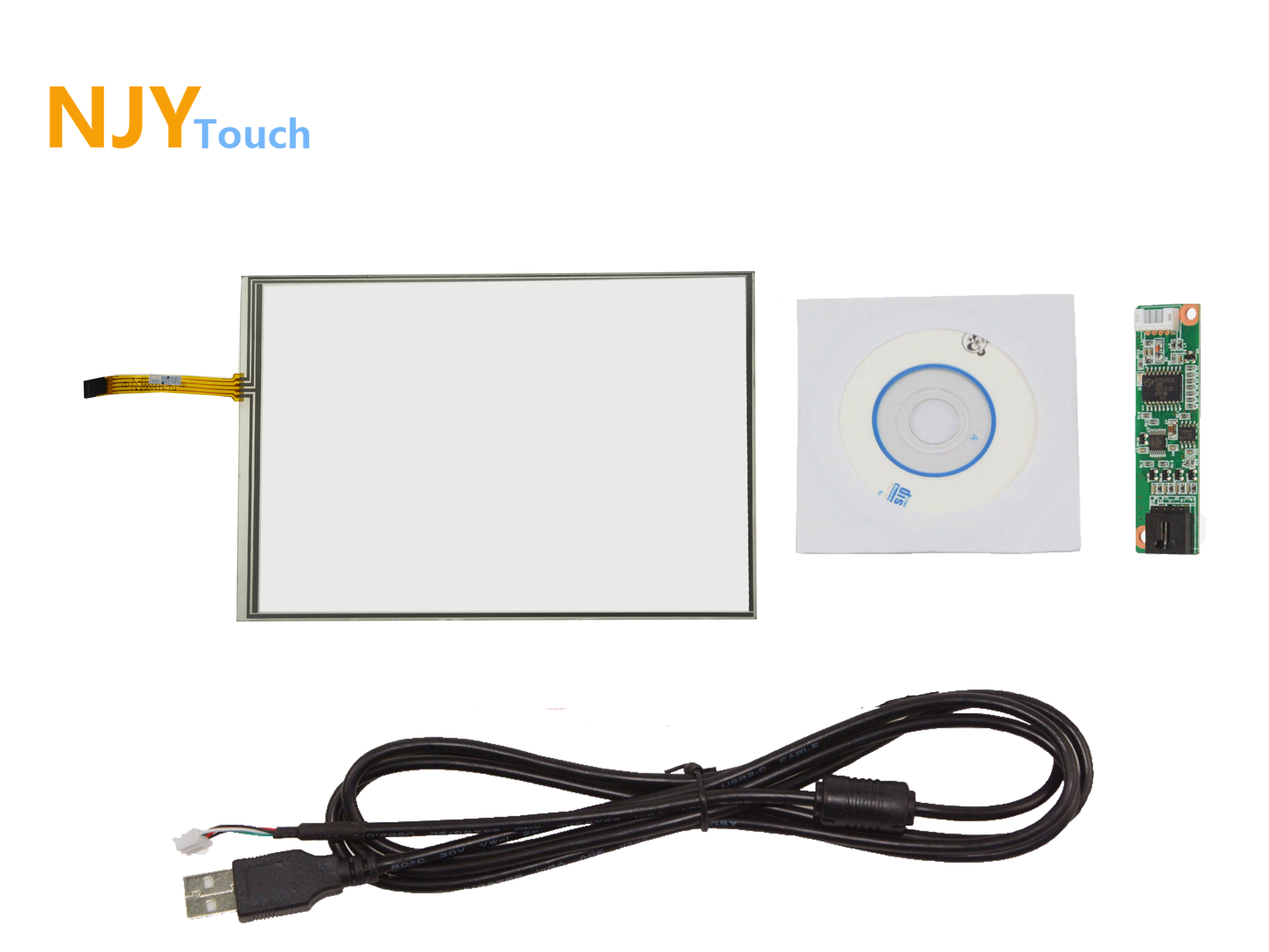 13.3inch 4Wire Resistive Touch Panel 293mm X 216mm USB Controller Drive Card 4:3