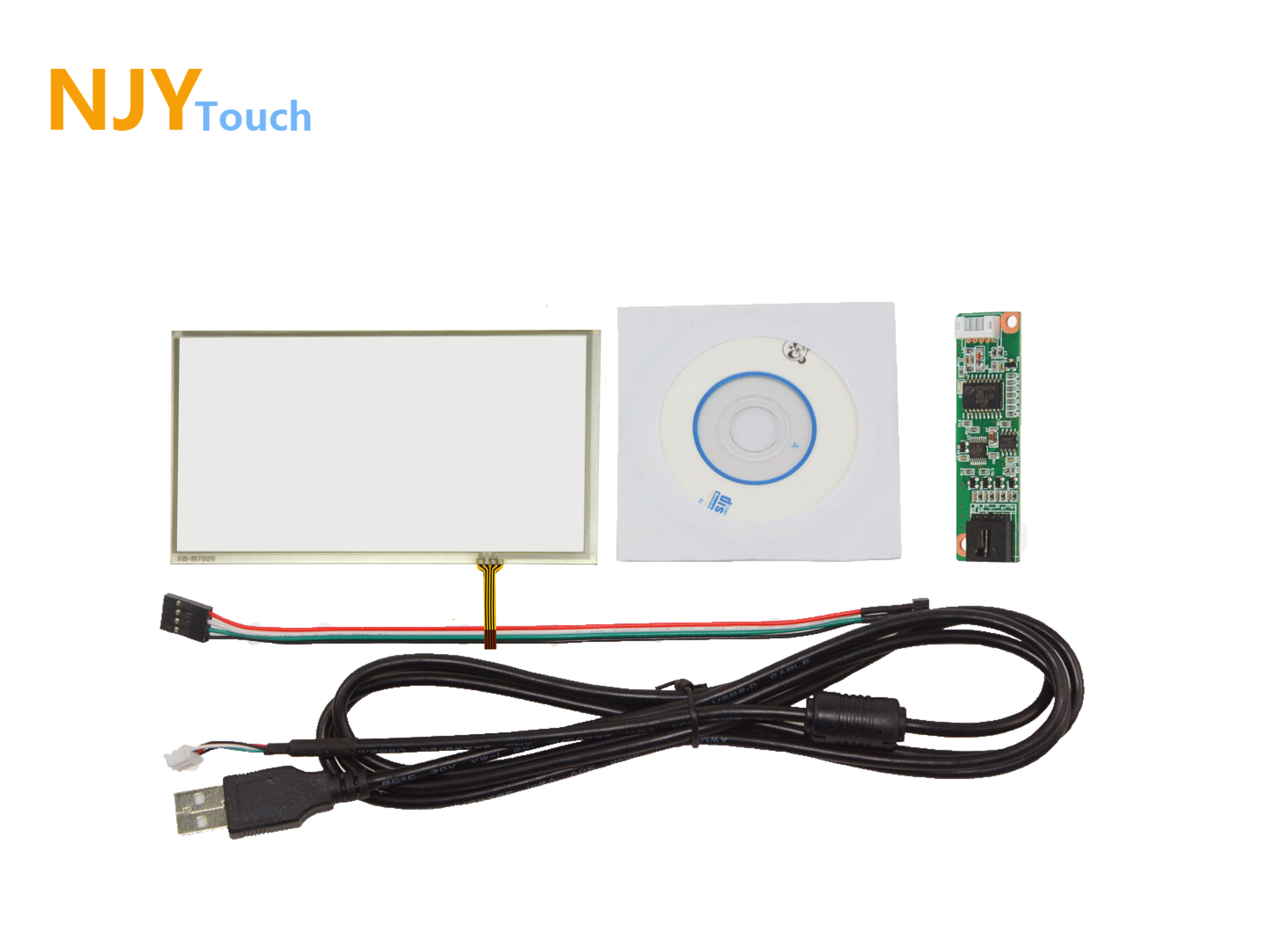 6.8inch 4 Wire Resistive Touch Panel 167mm x 93mm USB Card Kit For C070VW03 V0