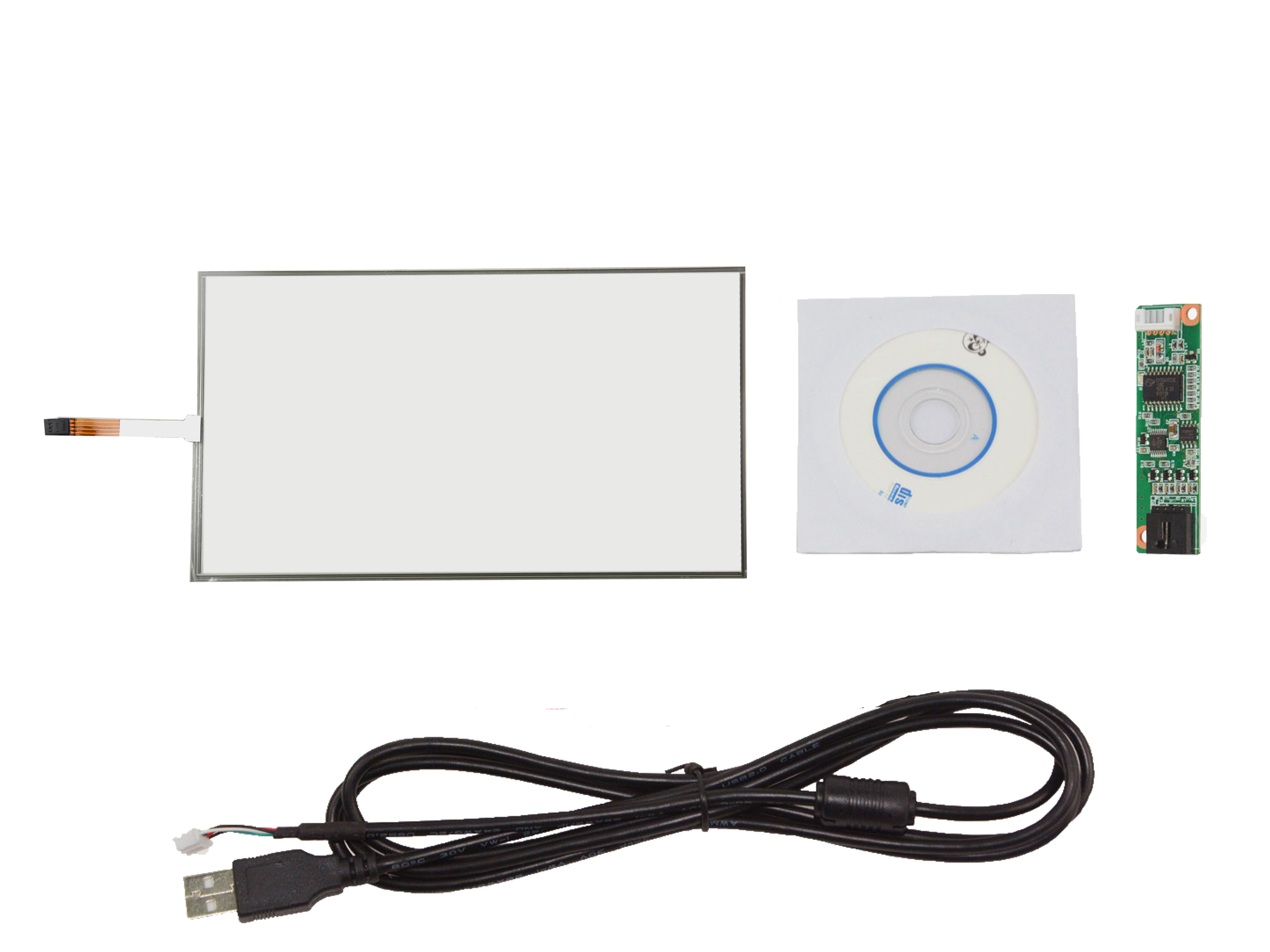 15inch 4 Wire Resistive Touch Panel 16:10 346 x 217mm With USB Controller Card