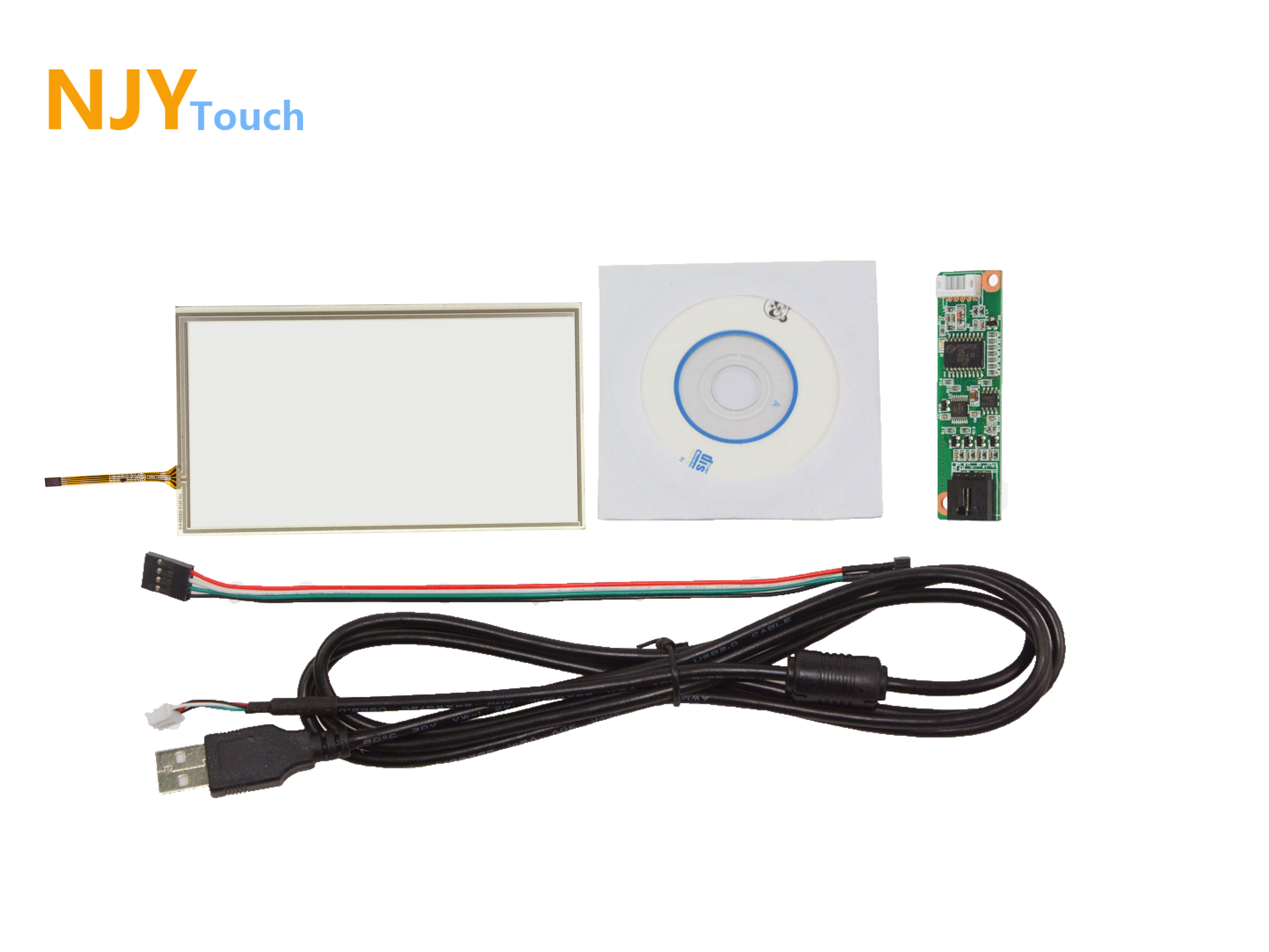 8inch 4 Wire Resistive Touch Panel 192mm x 116mm With USB Controller Card Kit