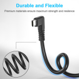 Fasgear USB to Type C 90 Degree Cable for Oculus Quest Link, 5Gbps Data Transfer