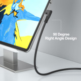Fasgear USB C to Type C 90 Degree Cable for Oculus Quest 2,  USB 3.0, 100W PD with E-Marker Chip Compatible for Oculus Quest Link