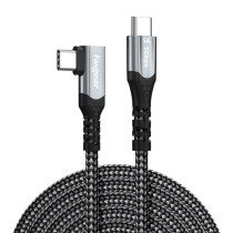 Fasgear USB C to Type C 90 Degree Cable, 16.5ft, 5Gbps, 100W PD, 4K@60Hz Compatible for Oculus Quest Link