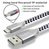 Fasgear Micro USB Cable, Nylon Braided Micro USB Sync Cable Compatible with Galaxy, Nokia, Huawei, Nexus, Kindle, HTC, LG, Sony, PS4, Switch and more