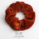 Woman Velvet Scrunchies Solid Hair Ring Ties For Girls