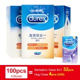 100PCS Durex Condom  4 Types Ultra Thin Latex