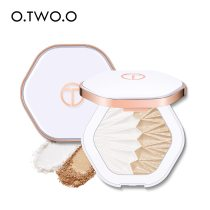 O.TWO.O 2 In 1 Highlighter Palette Face Illuminator Shimmer Contouring Shell Highlighter Glowing Makeup Pearl White Pink Purple