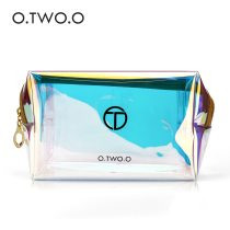 O.TWO.O Transparent Holographic Cosmetic Bag Travel Make Up Necessaries Organizer Zipper Toiletry Kit Makeup Case Pouch