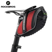 ROCKBROS Bike Bag 3D Shell Rainproof Saddle Bag Reflective Bicycle Bag Shockproof Cycling Rear Seatpost Bag MTB Bike Accessories