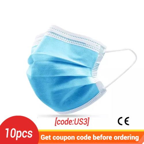 10PCS Anti-Pollution 3 Layers Protective Face Mask