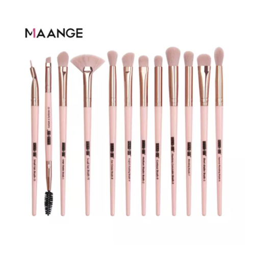 MAANGE Pro 12 pcs/lot Makeup Brushes Set