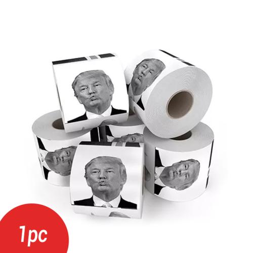 1pcs  2019 HOT New President Donald Trump Toilet Paper Roll Prank Gag Joke Funny Gift Trump Bathroom Kitchen Prank Paper Dropship