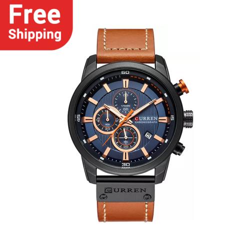 CURREN 8291 Men Analog Digital Leather Sports Watches