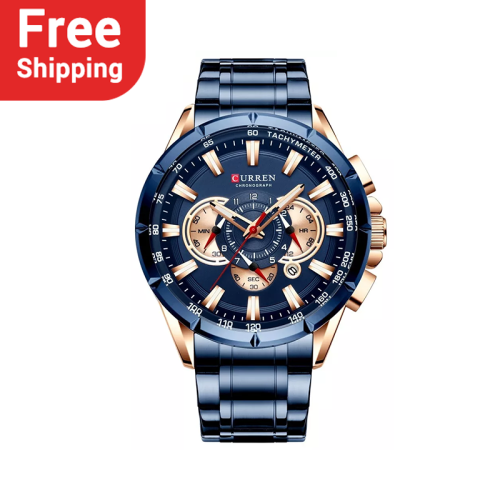 CURREN 8363 Wrist Watch Men Waterproof  Stainless Steel